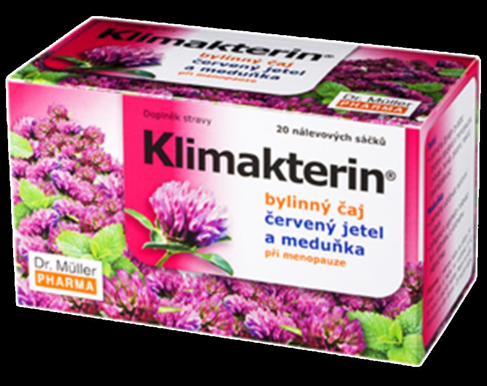 Fotografie Dr. Muller Klimakterin bylinný čaj při menopauze 20 x 1,5 g