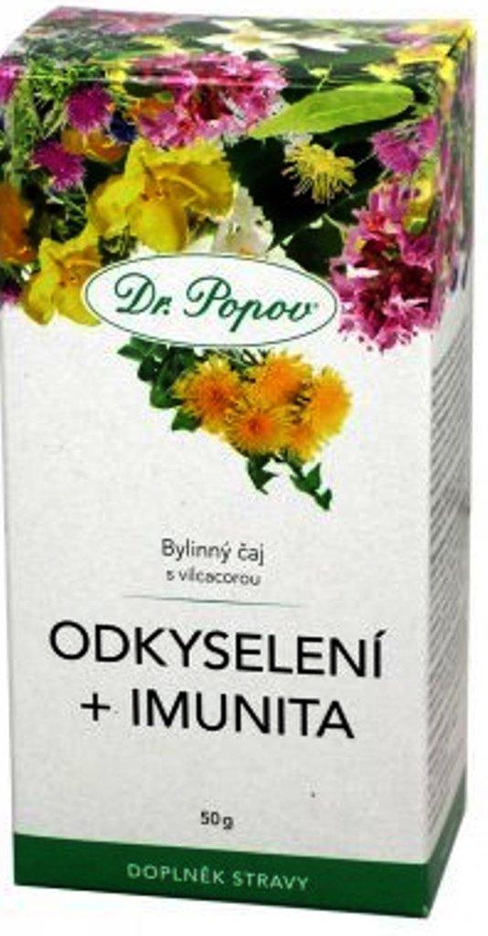 Fotografie Dr.Popov Odkyselení + imunita bylinný sypaný čaj s vilcacorou 50 g