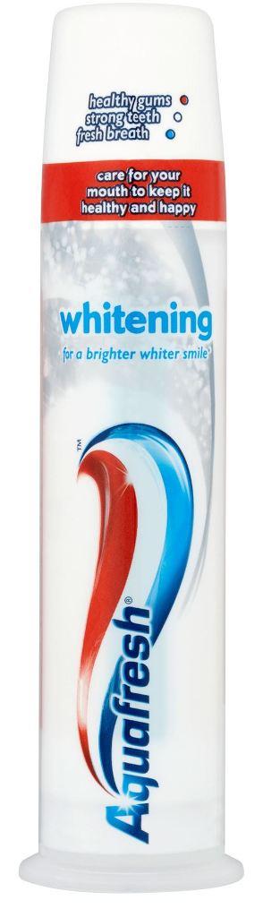 Fotografie Aquafresh Whitening zubní pasta dávkovač 100 ml
