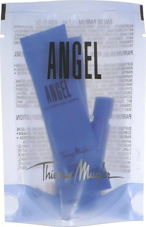 Thierry Mugler Angel parfémovaná voda pro ženy 1,2 ml + sprchový gel 5 ml + tělové mléko 5 ml, kosmetická sada miniatur