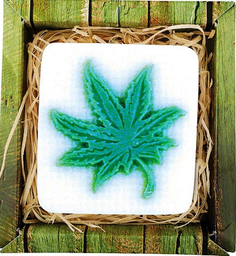 Bohemia Natur cannabis ručně vyráběné toaletní mýdlo v krabičce 80 g