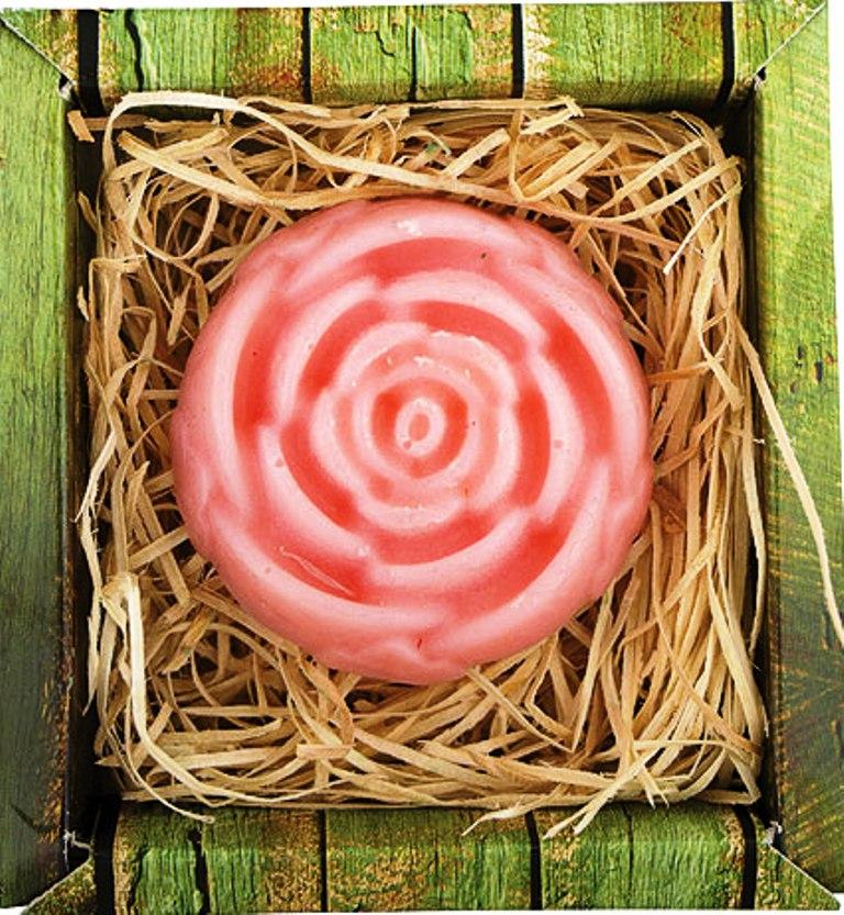 Bohemia Natur Růže ručně vyráběné toaletní mýdlo v krabičce 65 g