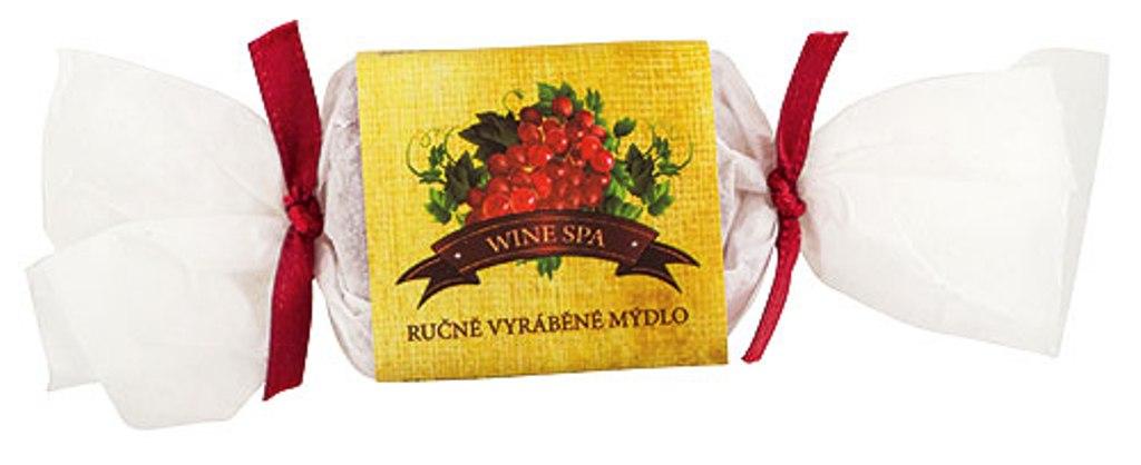 Fotografie Bohemia Gifts & Cosmetics Wine Spa Vinná kosmetika s glycerinem ručně vyráběné toaletní mýdlo bonbon 30 g