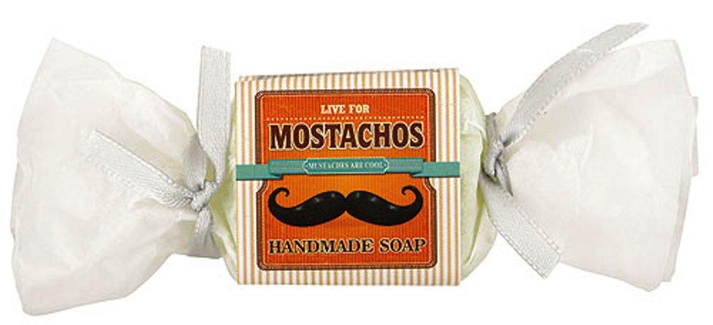 Bohemia Natur Mostachos s glycerinem ručně vyráběné toaletní mýdlo bonbon 30 g