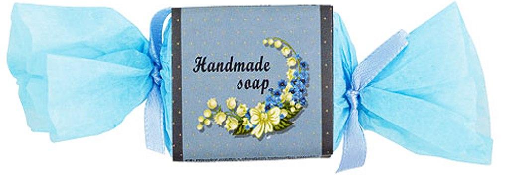 Fotografie Bohemia Gifts & Cosmetics Blue Flower s glycerinem ručně vyráběné toaletní mýdlo bonbon 30 g