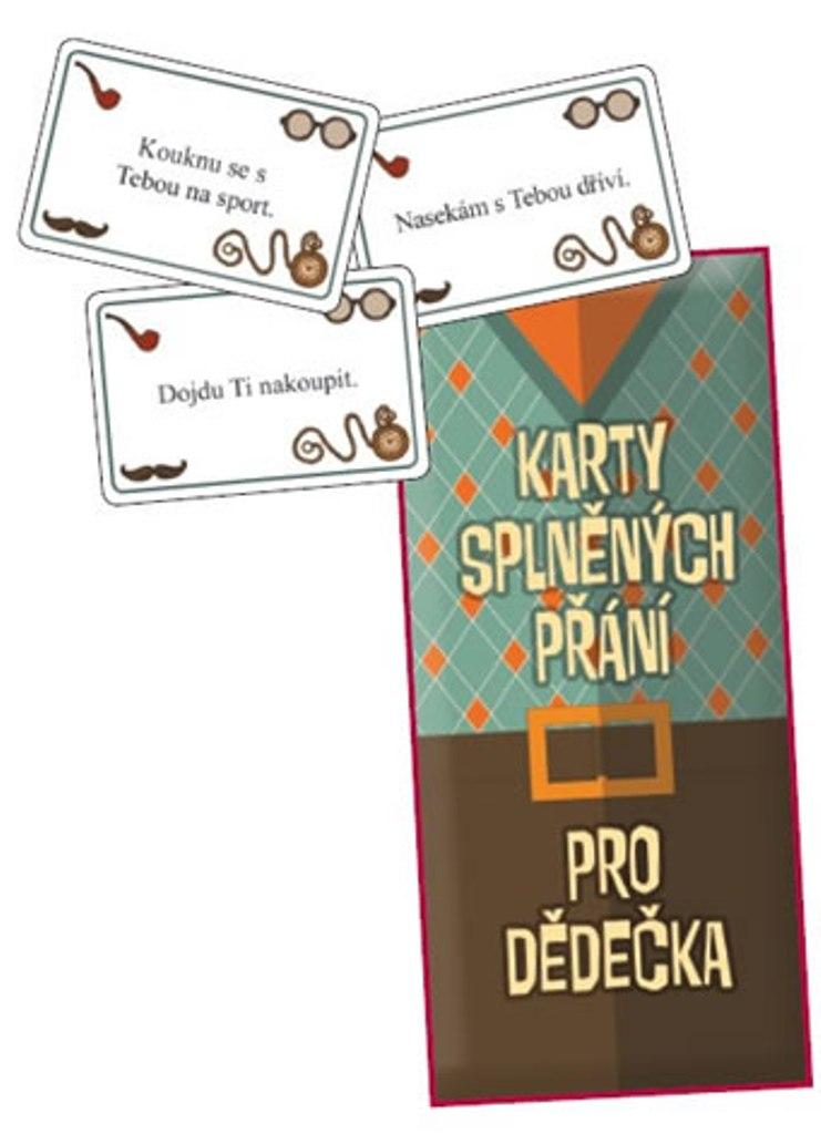 Bohemia pro dědečka Karta splněných přání 20 kusů karet