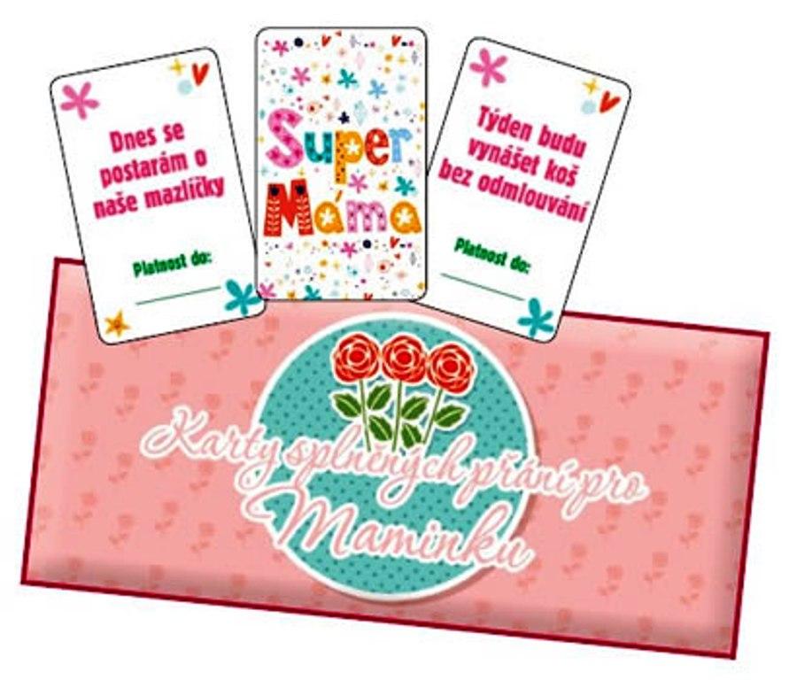 Bohemia Gifts & Cosmetics Karty splněných přání pro maminku 20 kusů karet