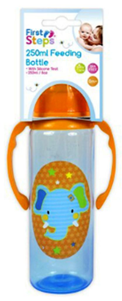 Fotografie First Step s úchopy Jungle - Zajíček kojenecká láhev 250 ml