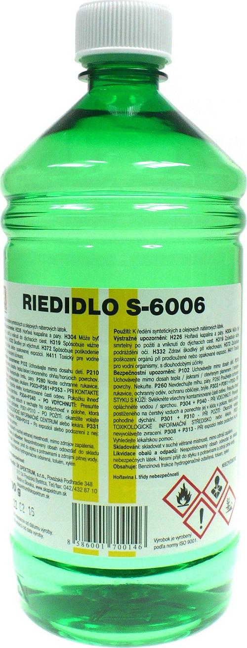 Fotografie ŠK spektrum Ředidlo S 6006 k ředění syntetických a olejových nátěrových látek 700 g