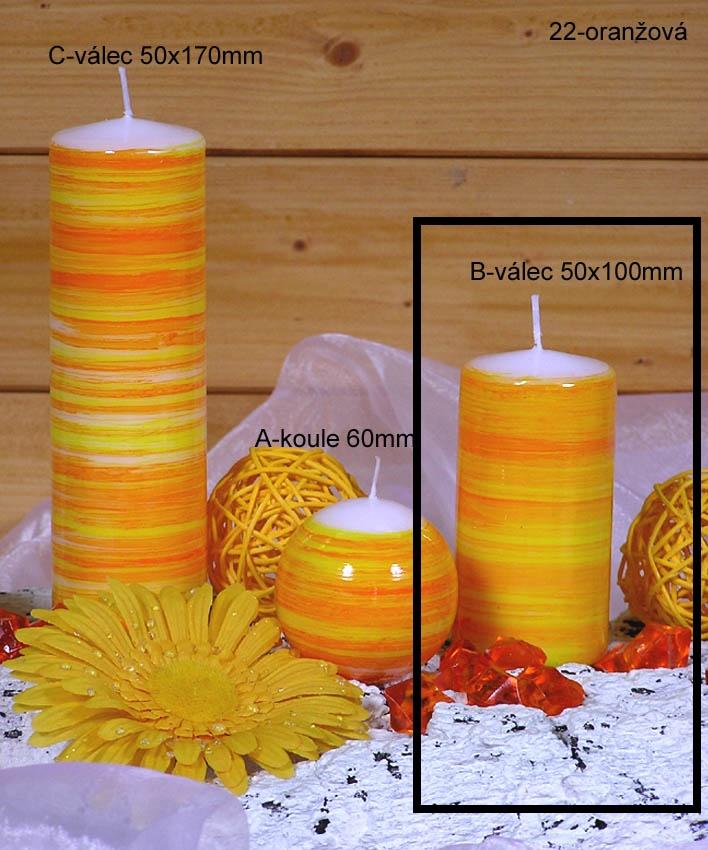 Lima Twist svíčka fialová válec 50 x 100 mm 1 kus