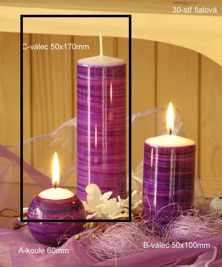 Lima Twist svíčka oranžová válec 50 x 170 mm 1 kus