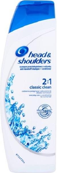 Head&Shoulders 2in1 Classic Clean šampon a balzám na vlasy proti lupům 225 ml