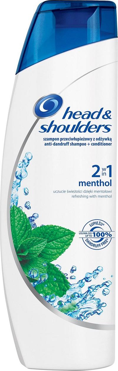Fotografie Head&Shoulders Menthol 2v1 šampon a balzám na vlasy proti lupům 225 ml