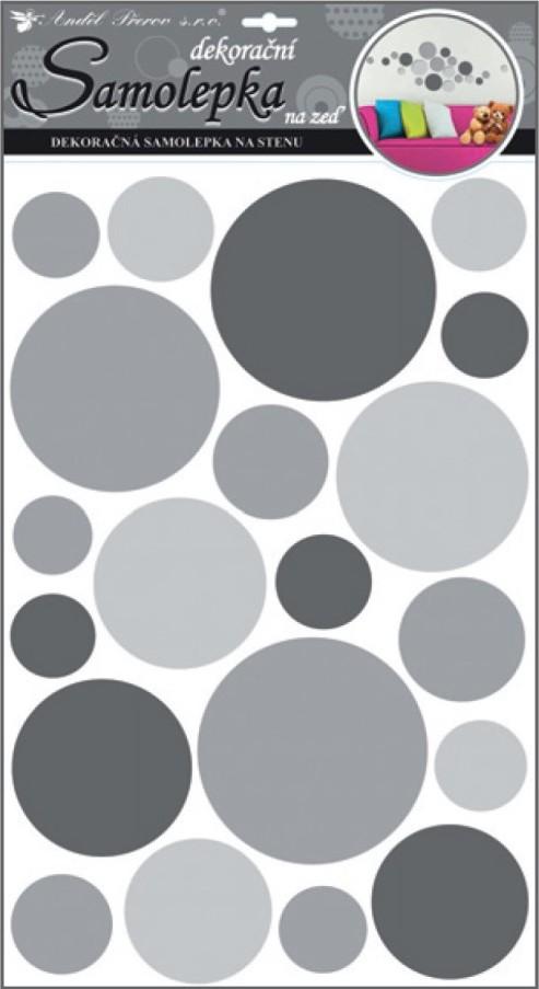 Samolepící dekorace 10164 kolečka šedá 60x32 cm