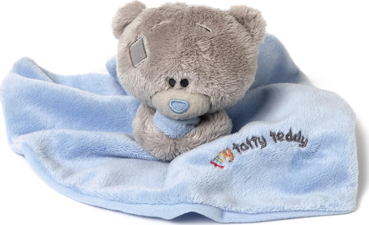 Me to You Tiny Tatty Teddy Dečka s medvídkem modrá 22 x 18 cm