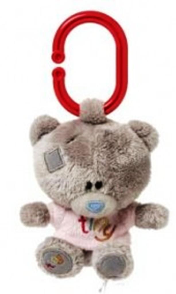 Me to you - Tiny Tatty Teddy - Medvídek pískátko v růžovém tričku 10 cm