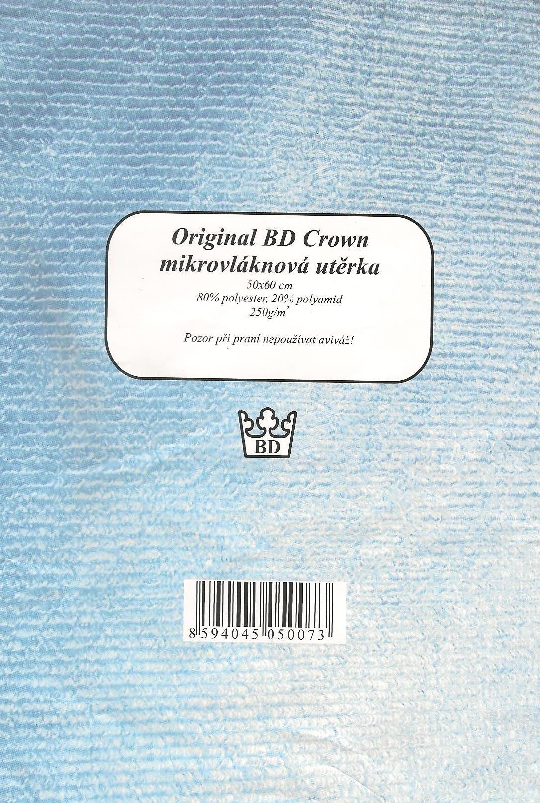 Fotografie Original BD Crown mikrovláknová utěrka 50 x 60 cm