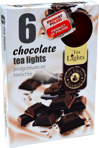 Tea Lights Chocolate s vůní čokolády vonné čajové svíčky 6 kusů