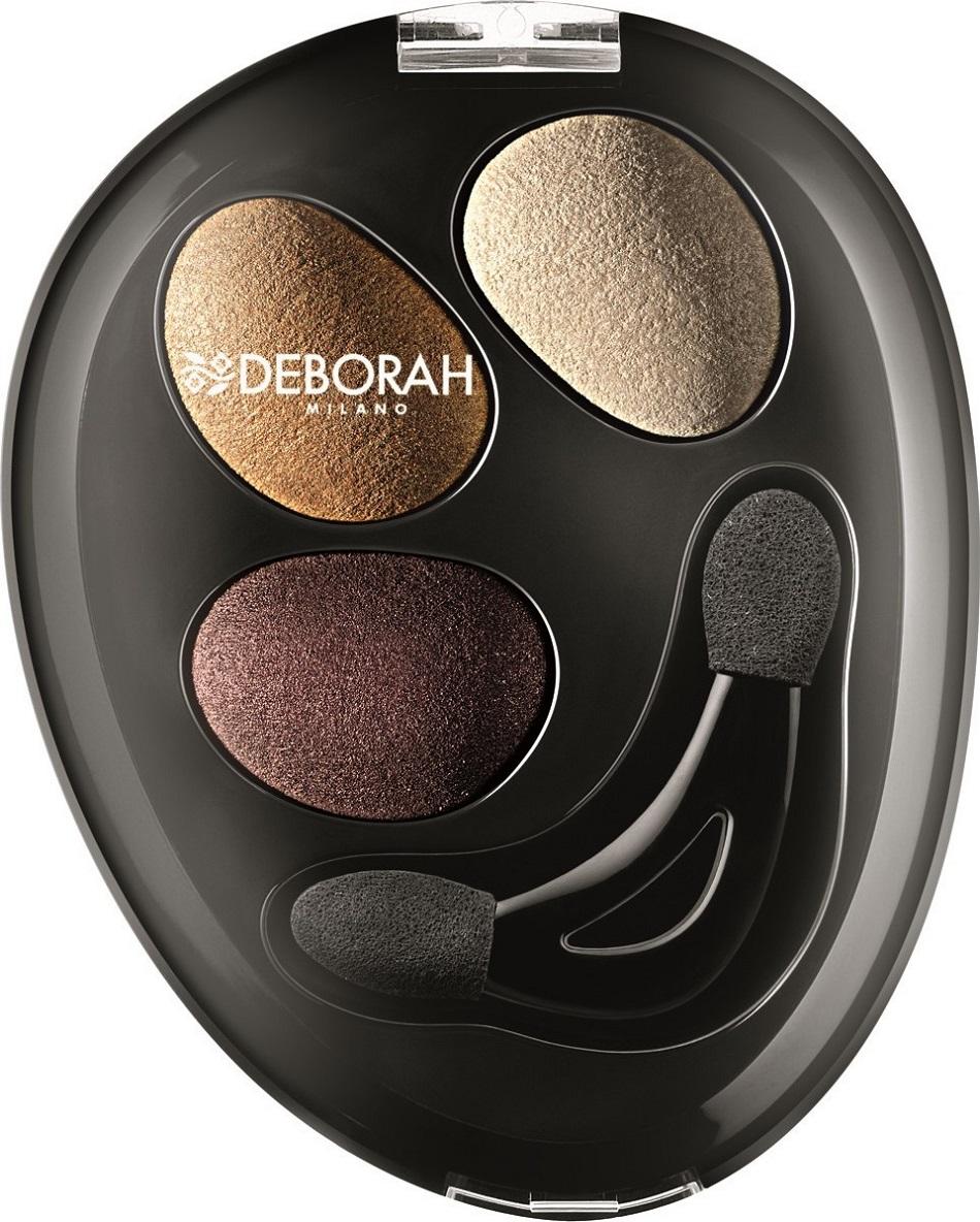 Fotografie Deborah Milano Trio Hi-Tech Eyeshadow oční stíny 02 Goddess Bronze 4,2 g
