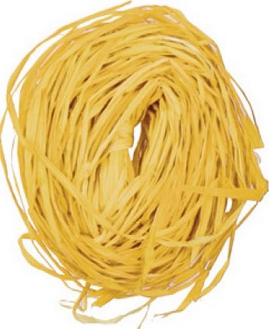 Raffia žlutá nabarvené lýko k dekoraci 30 g