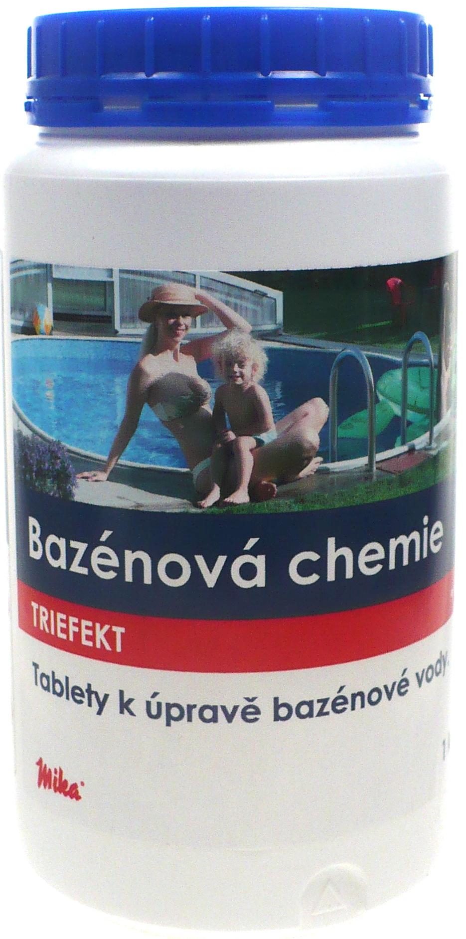 Fotografie Mika Bazénová chemie Triefekt tablety k úpravě bazénové vody 1 kg