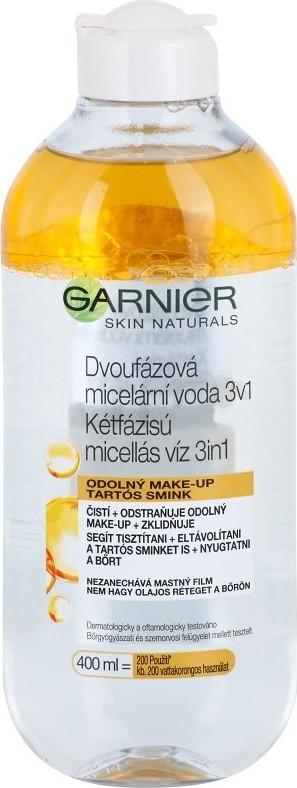 Fotografie Garnier Skin Cleansing dvoufázová micelární voda 3 v 1 400 ml