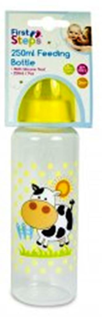 Fotografie First Steps Farma Kravička 0+ kojenecká láhev 250 ml