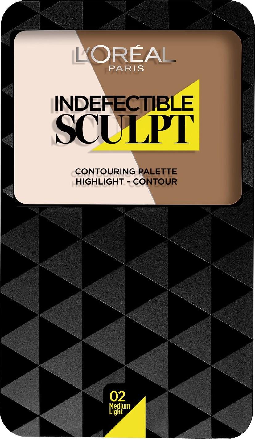 Fotografie L'Oréal Paris Infallible Sculpt paleta na kontury obličeje odstín 03 Medium/Dark 10 g