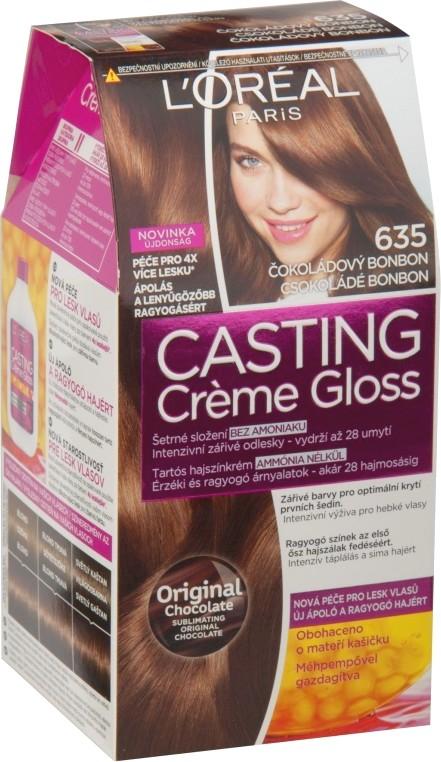 Fotografie Loreal Paris Casting Creme Gloss barva na vlasy 635 Čokoládový bonbon