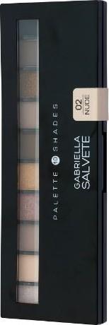 Fotografie Gabriella Salvete Palette 10 Shades paleta očních stínů se zrcátkem a aplikátorem 02 Nude 12 g