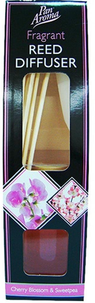 Pan Aroma Reed Diffuser Cherry Blossom & Sweetpea vonné tyčinky, rákos 50 ml