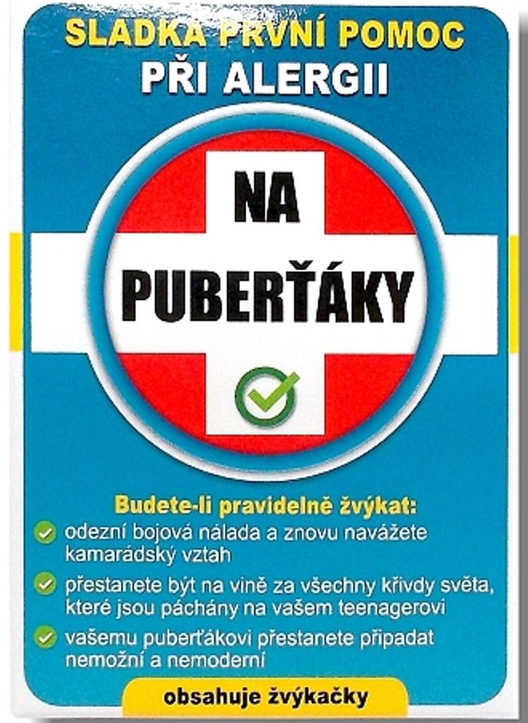 Nekupto Sladká první pomoc 2 Ovocné žvýkačky při alergii Na puberťáky 10 ks 001