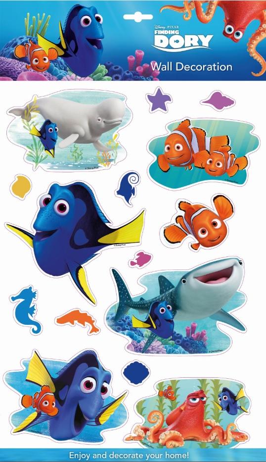 Disney® Nemo, Dory Room Decor Samolepky na zeď Disney Hledá se Dory 3D 40 x 29 cm