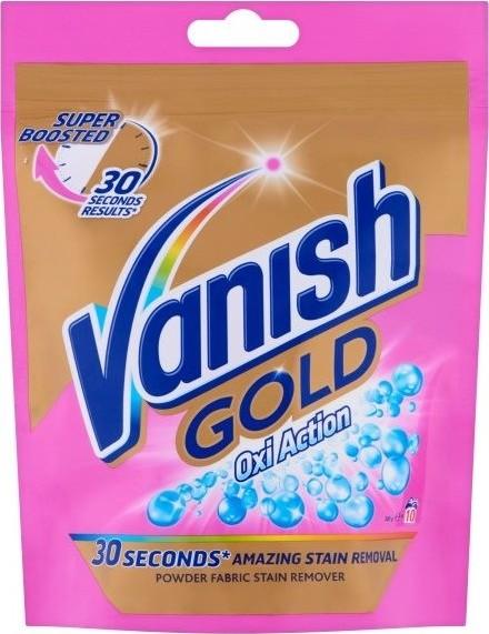 Fotografie Vanish Gold Oxi Action Pink odstraňovač skvrn prášek 10 dávek 300 g