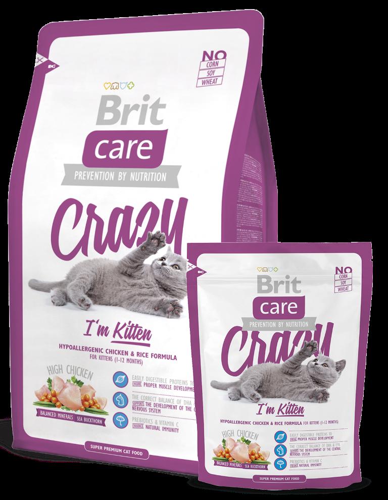 Fotografie Brit Care Kuře + rýže pro koťata 1-12 měsíců 7 kg, Hypoalergenní kompletní krmivo