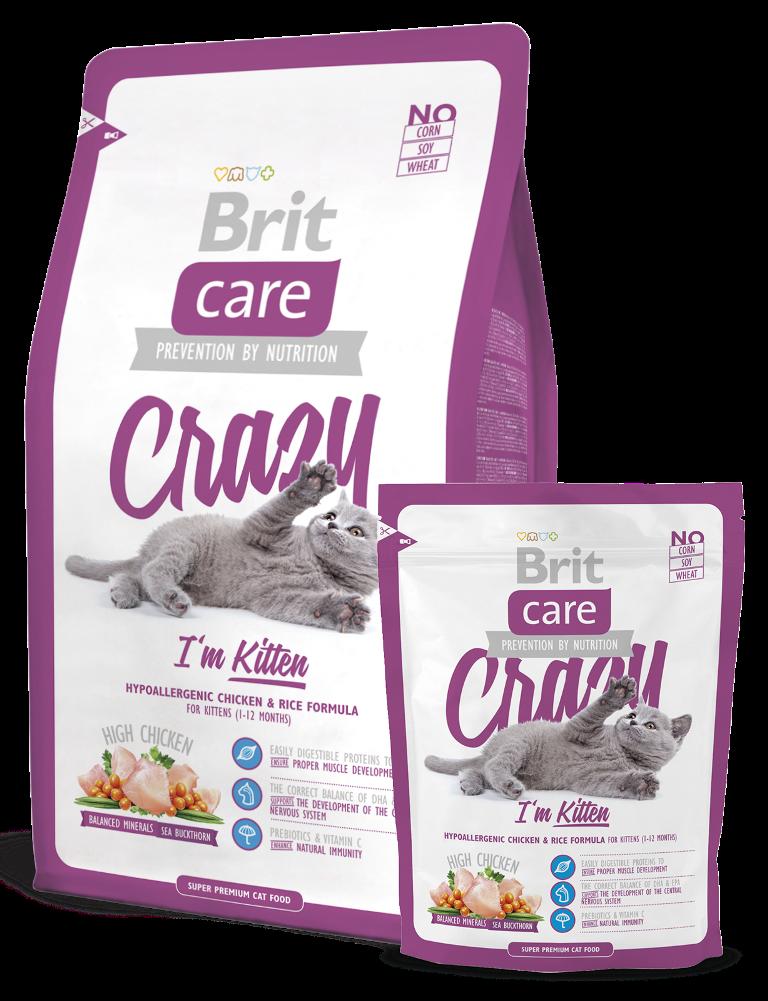 Fotografie Brit Care Kuře + rýže 1-12 měsíců pro koťata 2 kg Superprémiové hypoalergenní kompletní krmivo
