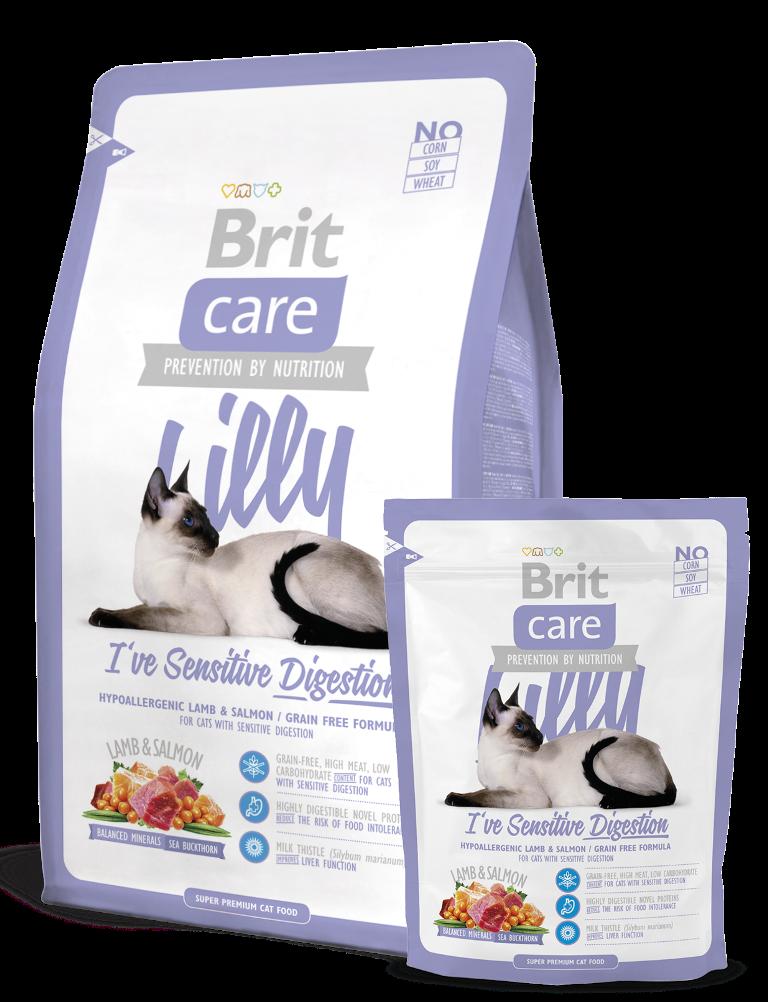 Fotografie Brit Care Jehněčí + losos pro dospělé kočky s alergiemi a citlivým zažíváním 7 kg, Hypoalergenní kompletní krmivo
