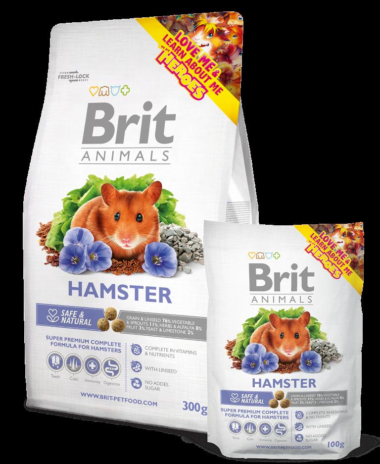 Fotografie Brit Animals HAMSTER Complete 100g