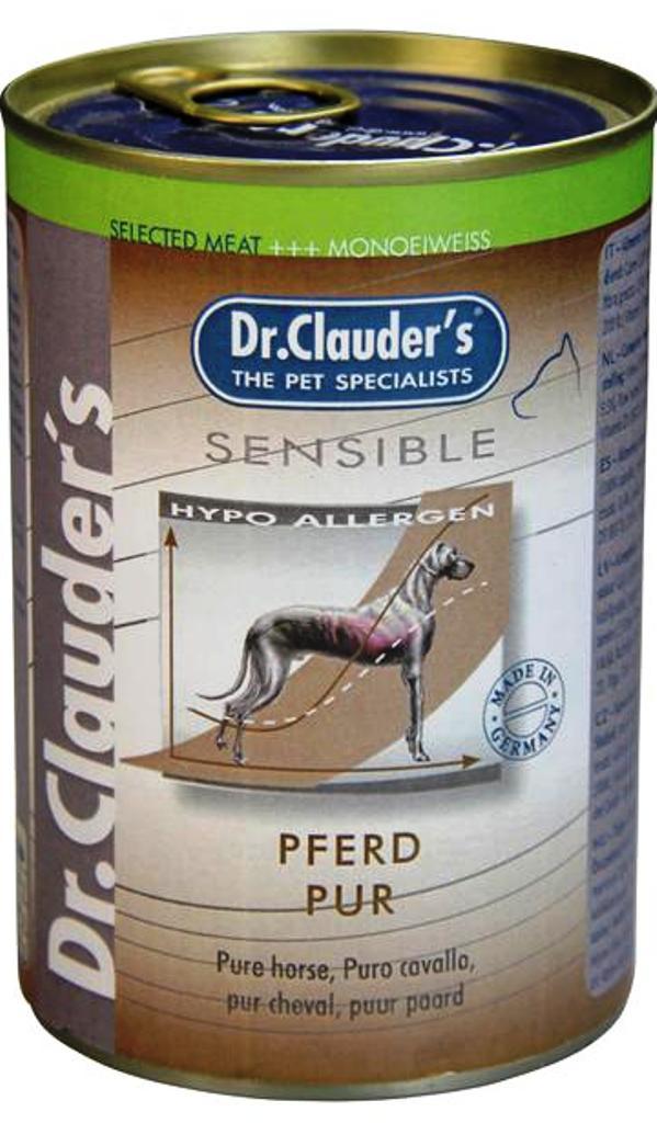 Fotografie Dr. Clauders Sensible Koňské maso pro dospělé citlivé psy 100% masa 400 g