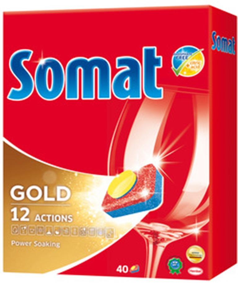 Somat Gold 12 Action tablety do myčky na nádobí 40 kusů