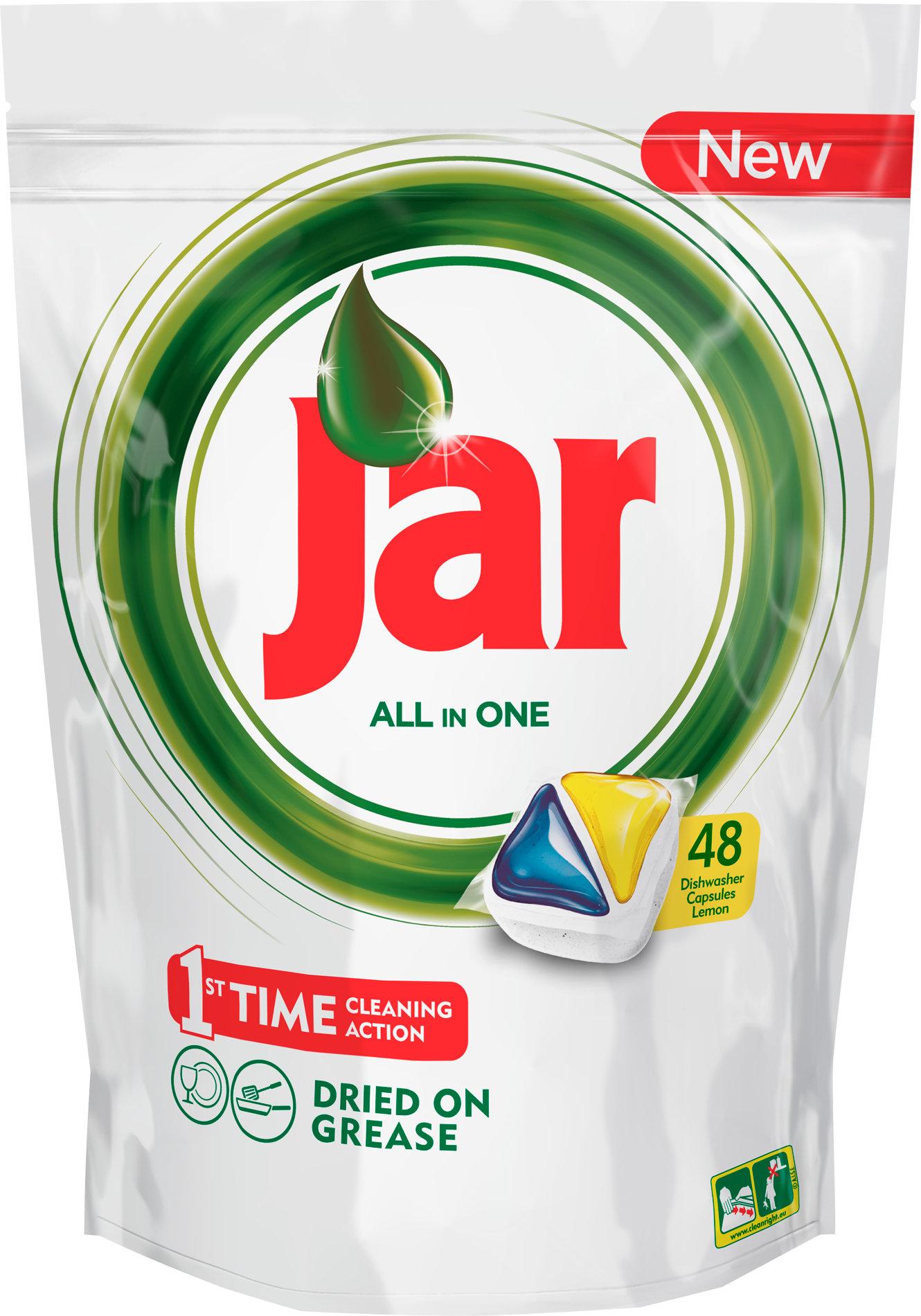 Jar All in One Lemon kapsle do myčky nádobí 48 kusů