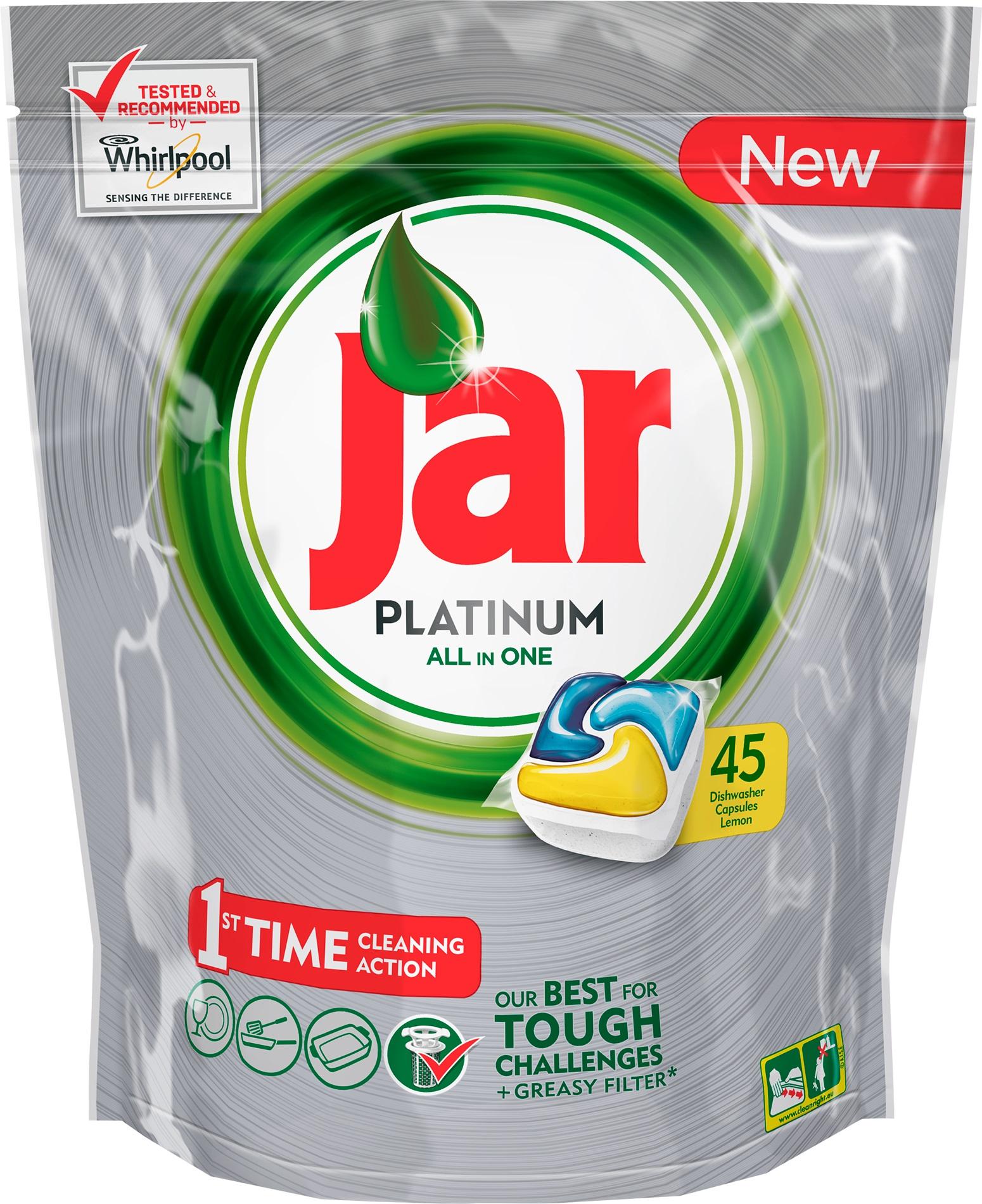 Jar Platinum All in One Lemon Kapsle do myčky nádobí 45 kusů
