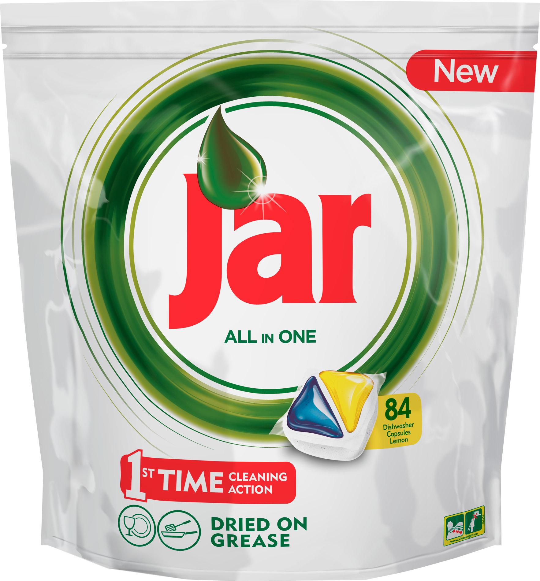 Jar All in One Lemon kapsle do myčky nádobí 84 kusů