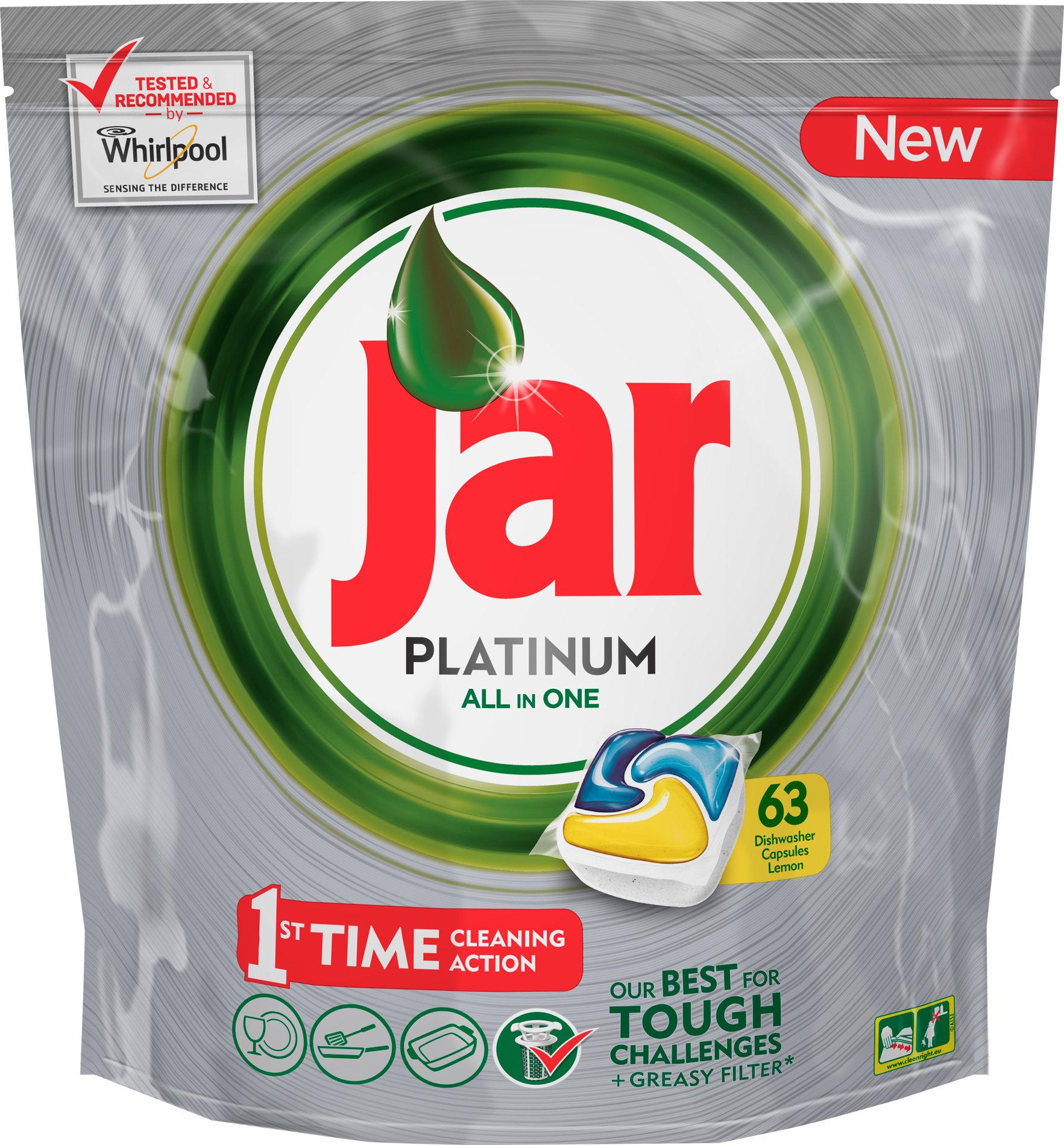 Jar Platinum All in One Lemon Kapsle do myčky nádobí 63 kusů