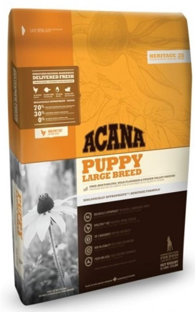Acana Puppy Large Breed Heritage krmivo pro štěňata a mladé psy velkých a obřích plemen do stáří 1-2 let 17 kg