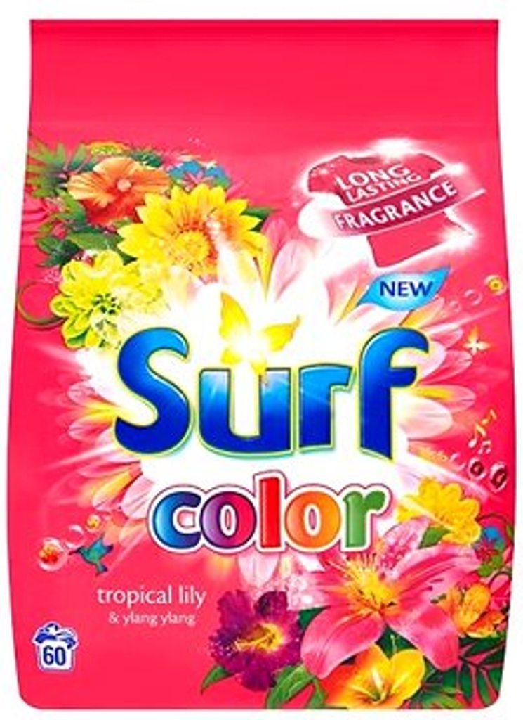 Fotografie Surf Color Tropical Lily & Ylang Ylang prací prášek na barevné prádlo 60 pracích dávek 4,2 kg