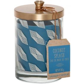 Yankee Candle Tumbler Coconut Splash - Kokosové osvěžení vonná svíčka sklo Wanderlust 283 g