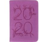 Albi Diář 2020 mini Fialový 11 x 7,5 x 1 cm
