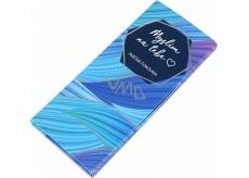 Albi Dárková mléčná čokoláda Myslím na tebe 50 g 14 x 6 cm