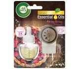 Air Wick Essential Oils Merry Berry - Vůně zimního ovoce elektrický osvěžovač vzduchu komplet 19 ml